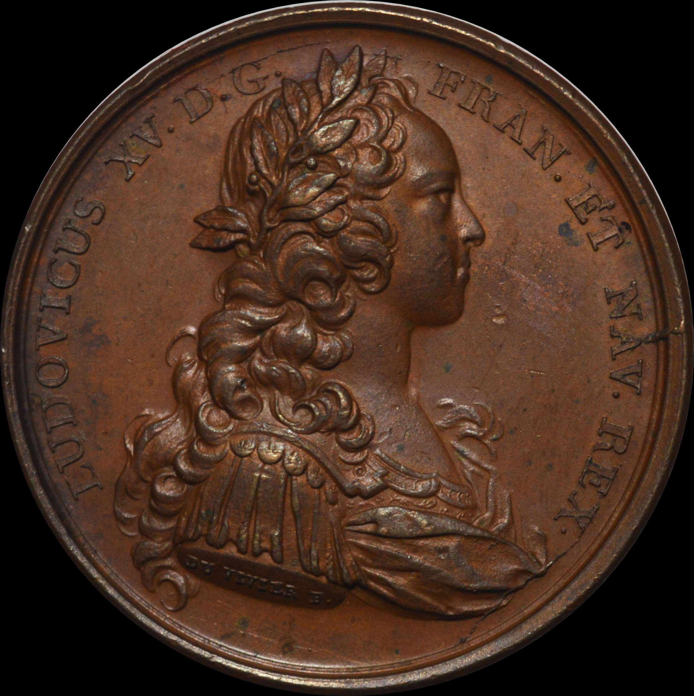 Louis XV - 1723 Majority of the King medal by Duvivier