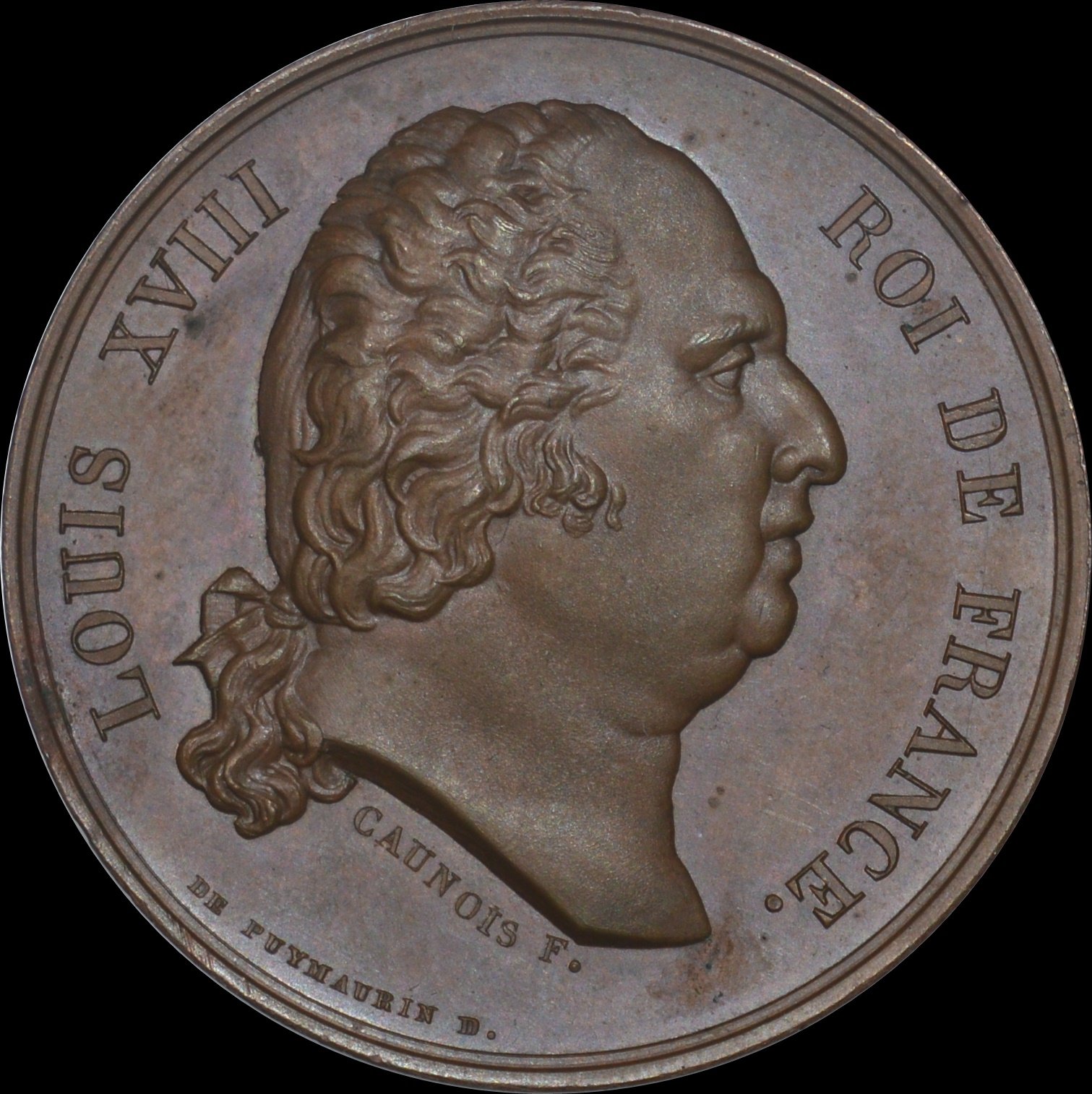Louis XVIII - 1824 Death of the King medal by Puymaurin