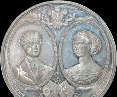 medallion 1863 Marriage of Edward Prince of Wales & Princess Alexandra