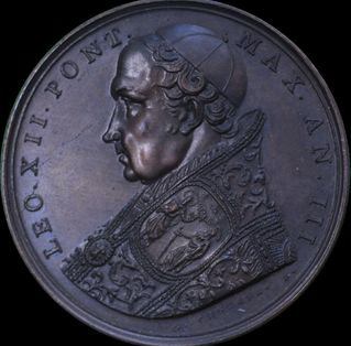 Italy - Pope Leo XII Year 3 (1826) Annual medal by Cerbara