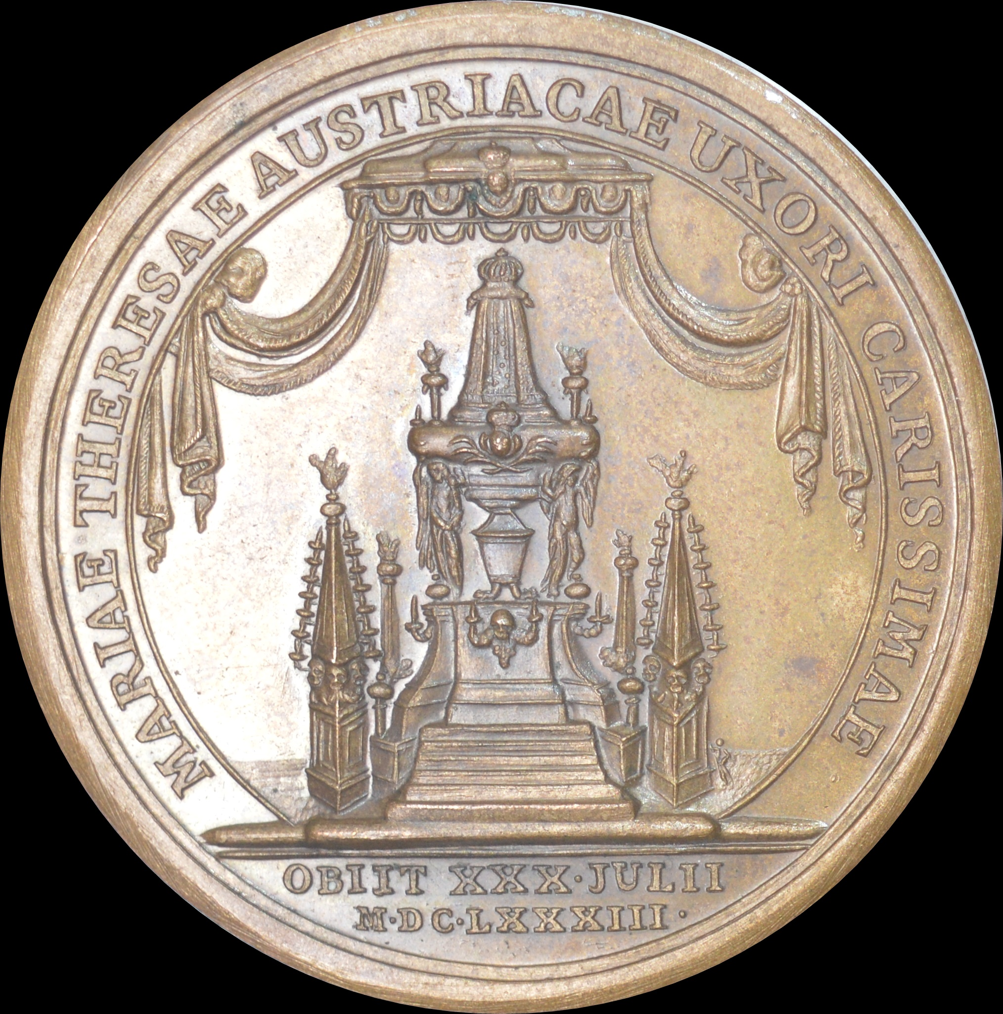 France, Louis XIV - 1683 Death of the Queen medal by Mauger