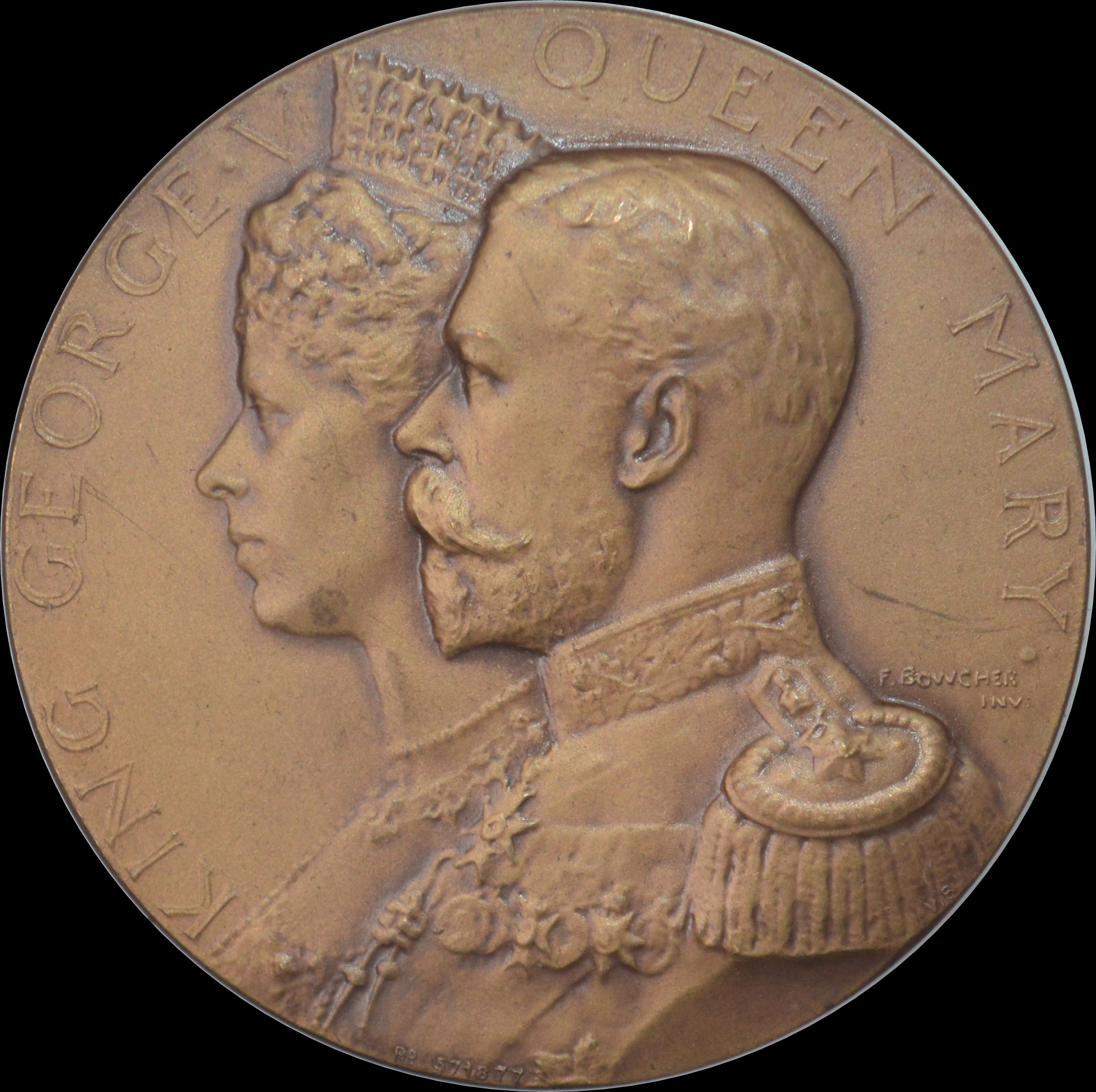 Coronation of George V medal by Bowcher