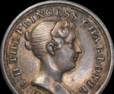 George III - 1796 Birth of Princess Charlotte silver medal