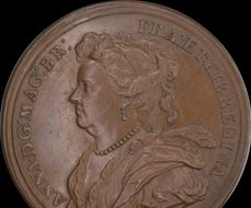 Queen Anne - 1702 Anne and Prince George of Denmark medal by Croker