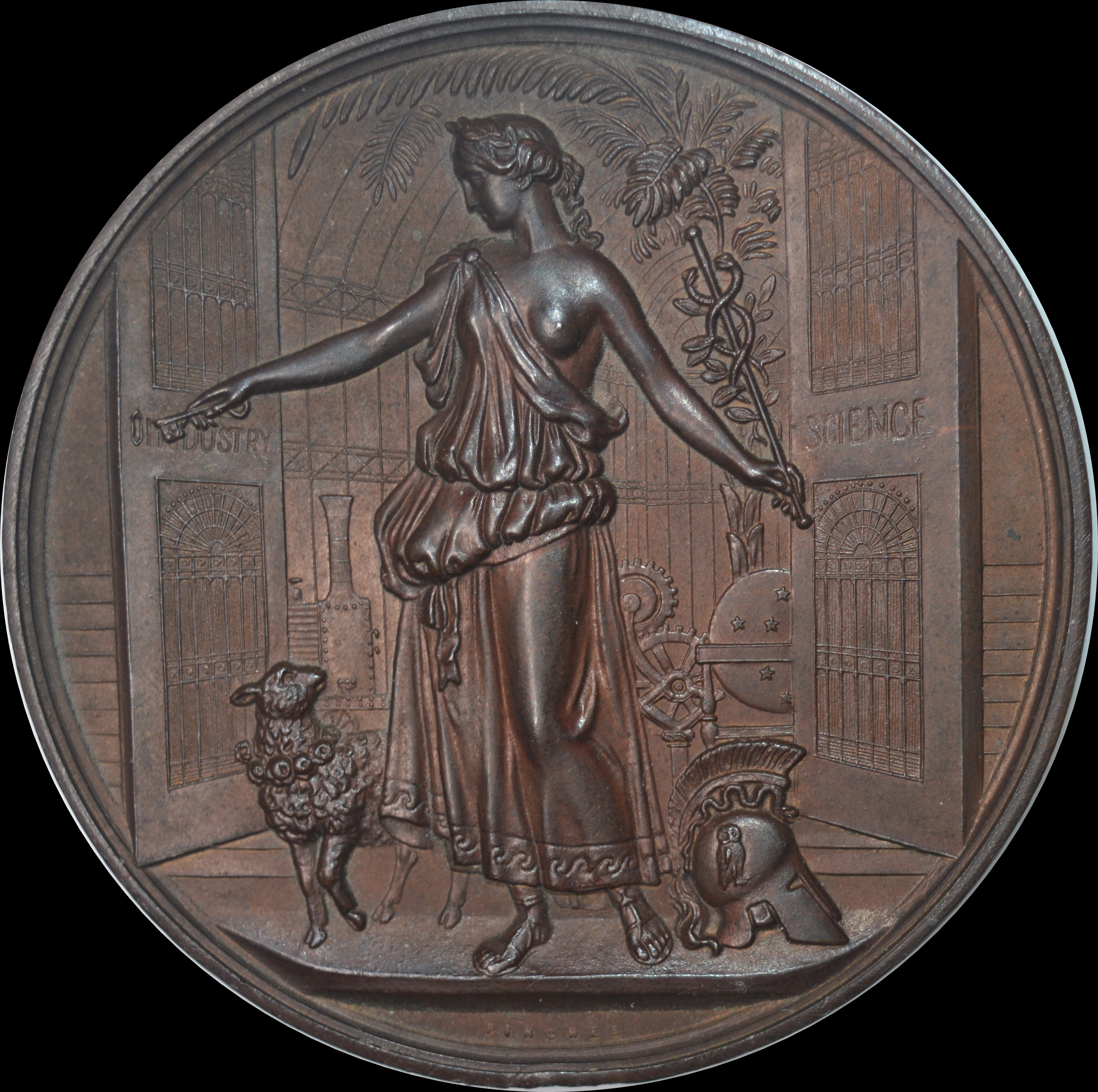 Queen Victoria - 1884 Crystal Palace Exhibition Bronze medal by Pinches