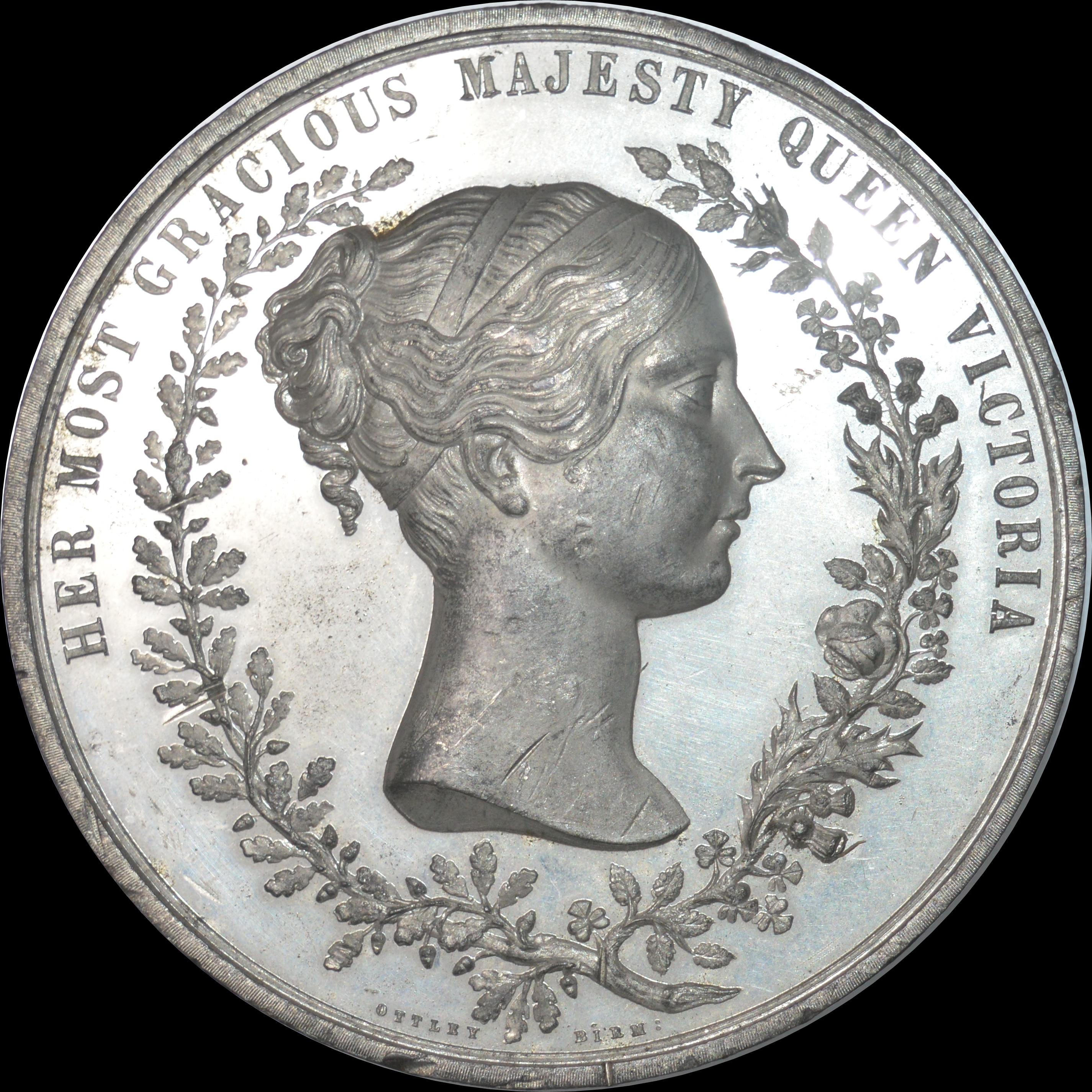 Queen Victoria - 1847 Opening of Houses of Parliament medal by Ottley
