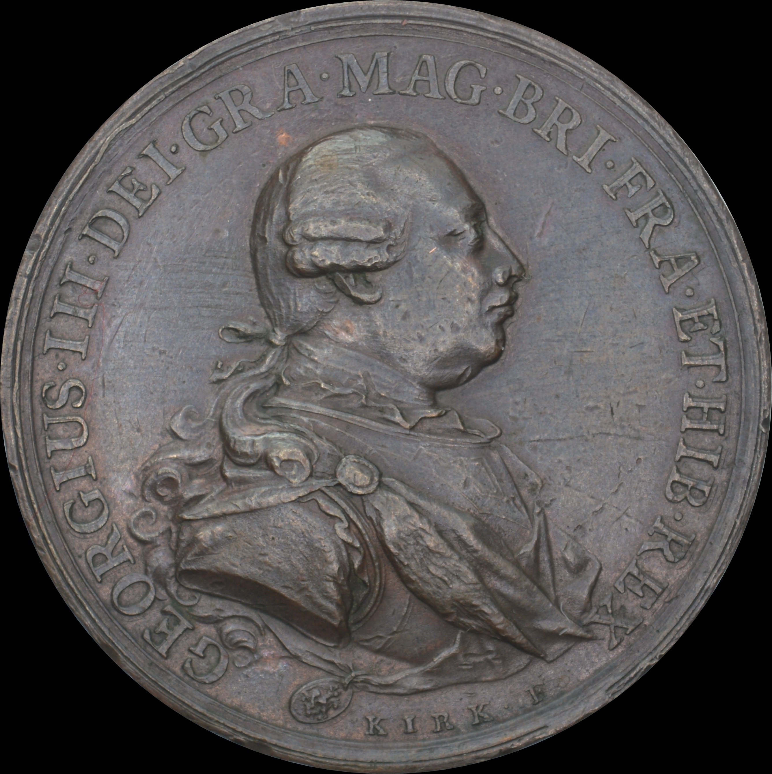 George III - 1775 Gold Recoinage Bronze Medal by Kirk