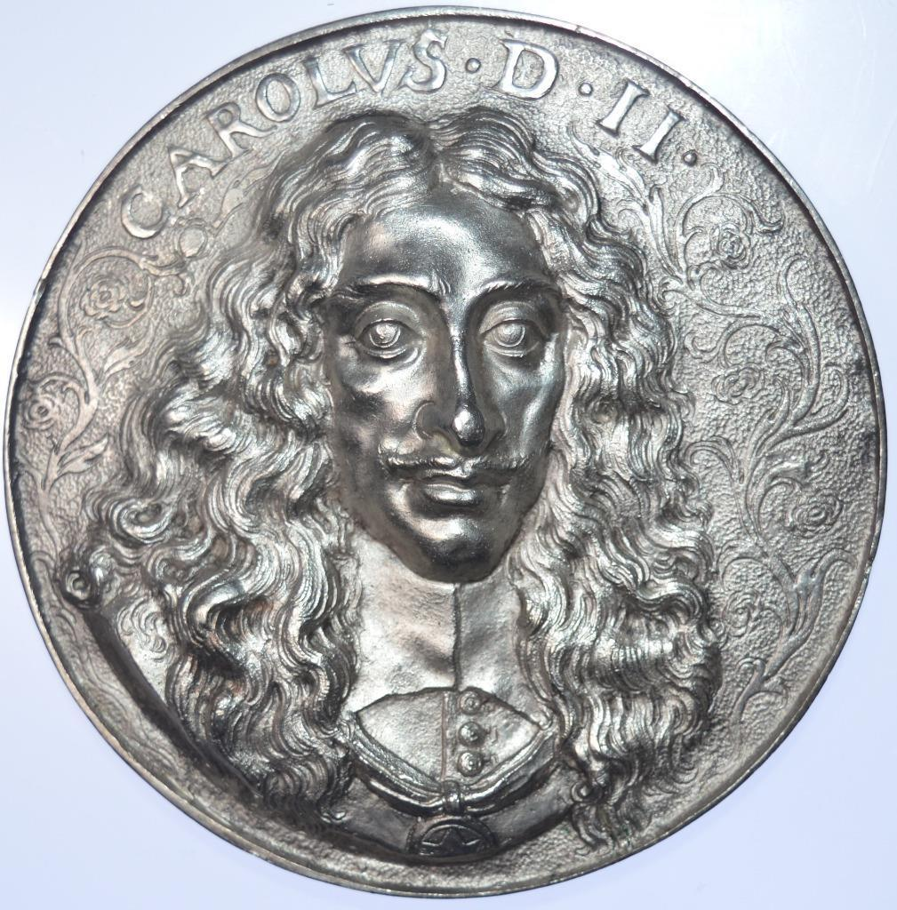 Charles II - 1660 the HMS Royal Charles Silver medal by Van Abeele